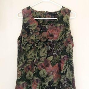 90's Vintage Women's Dress Size 10 Floral Green